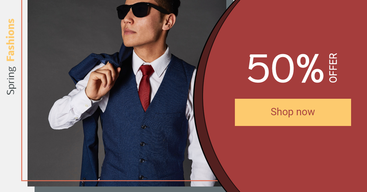 Fashion Businessman Banner Template